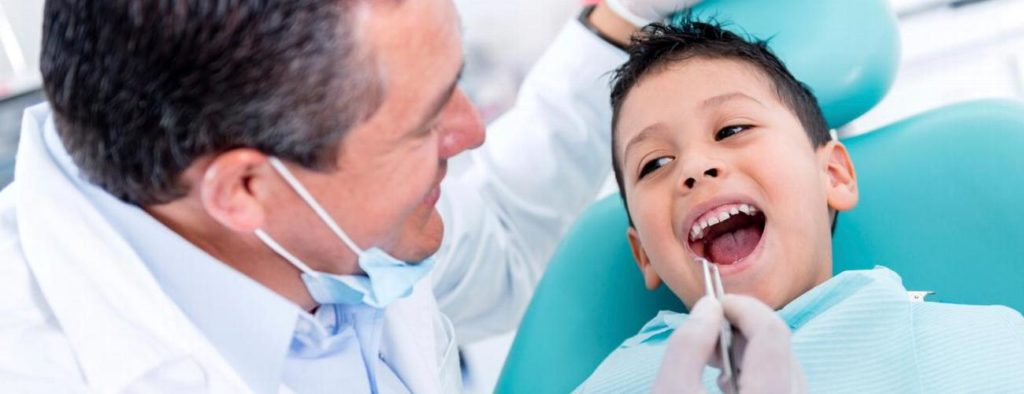 child at an orthodontic appointment
